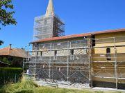 L'église en cours de réfection